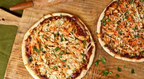 Pizza Tailandesa de Frango