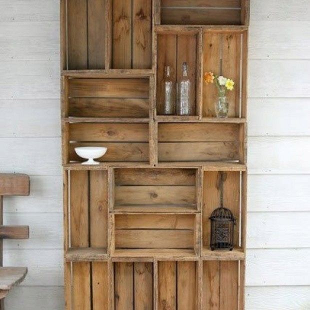 22 simple wood crate diy ideas furniture projects pinterest Wooden crates furniture