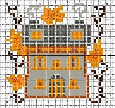 Schemi a punto croce gratuiti per tutti: Raccolta di schemi facili a punto croce - case e giardini