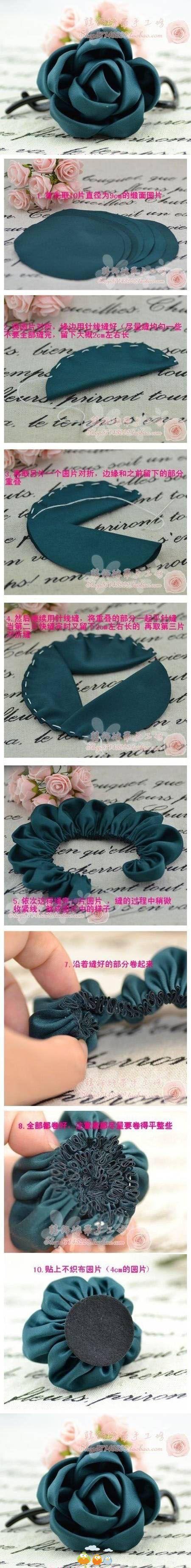 DIY Fabric Rose | | Keywords: diy, crafts, fabric rose, tutorial, how to