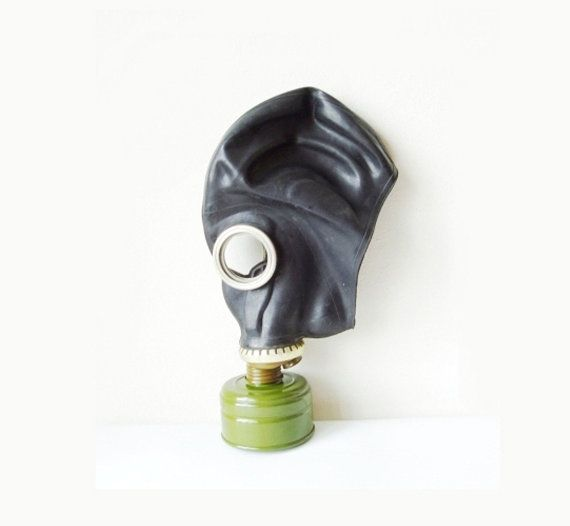 This is a GP-5 gas mask made in black rubber. It's very rare to find a GP-5 in black rather than in the gray rubber it's usually made of. Since the mask is made of Latex, the GP-5 can't used by those who are allergic to Latex.