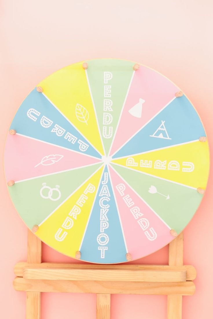 DIY #75 La roue de la fortune Wheel fortune tutorial