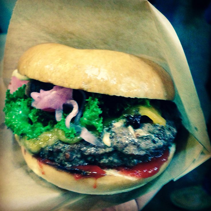 "The ""Regular"" Burger at Fat Burger, Copenhagen Street Food, Papirøen, Copenhagen, Denmark"