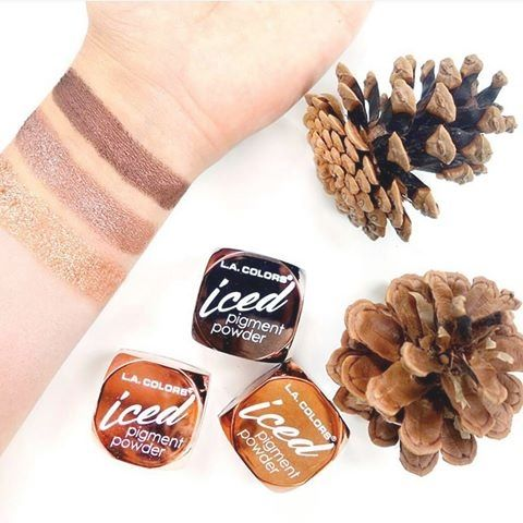 $4.99 - L.A. Colors Iced Pigment Powder #LAColors #eyeshadow #eyes #makeup #cosmetics #pinecones #autumn #bronze #belladonna