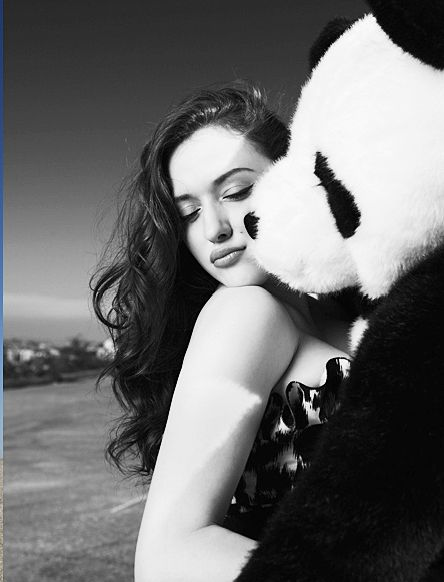 kat dennings.. with a panda. another reason why we'd be bff.