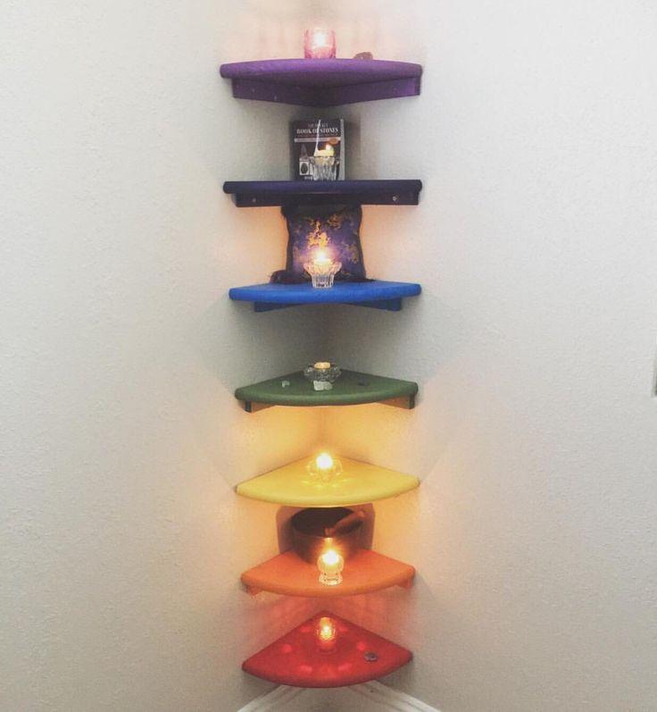 Chakra Corner Shelving Reiki Healing by ElijahsAttic on Etsy https://www.etsy.com/listing/384929980/chakra-corner-shelving-reiki-healing