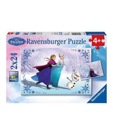 Frozen: Sisters Always 24-Piece Puzzle Set #zulily #zulilyfinds
