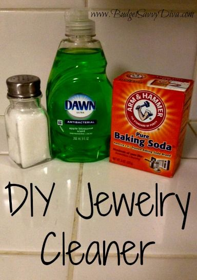 Homemade Jewelry Cleaner | Budget Savvy Diva; Works great!  Homemade Jewelry Cleaner Need to clean your jewelry, but don't want to pay a professional? Here's a cheaper, easier way to get the job done!