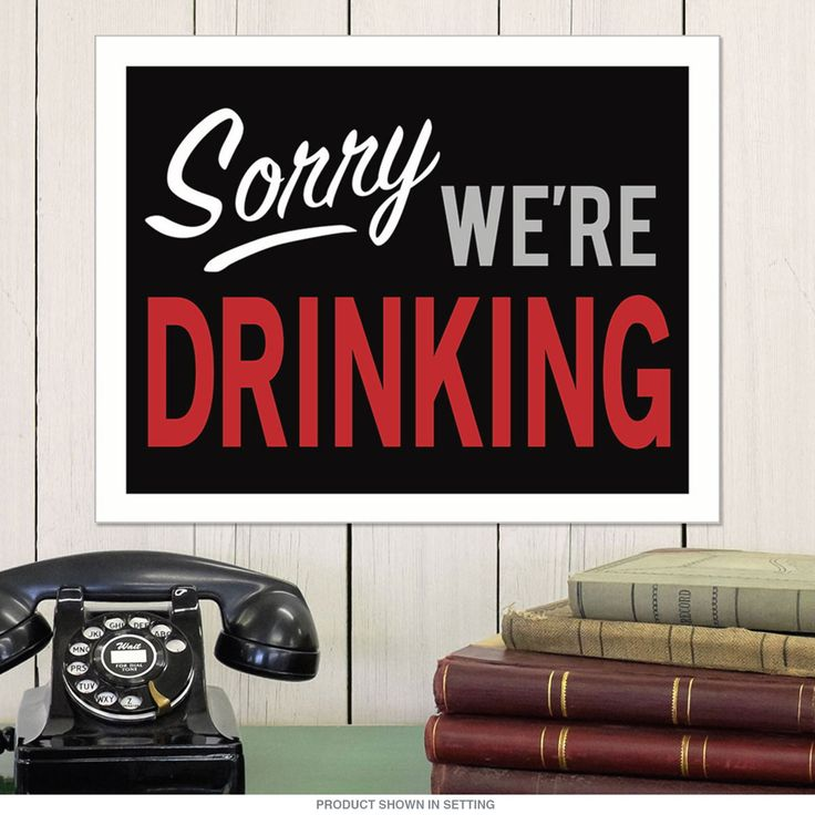 This lithographed metal sign looks great in any garage, game room, or bar. It's made of high quality tin, with a funny drinking inspired design. Made in the USA. Measures 16W x 12.5H inches.