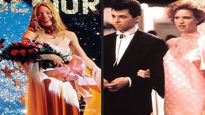 Imágenes de los bailes de fin de curso en las películas Carrie y 16 velas