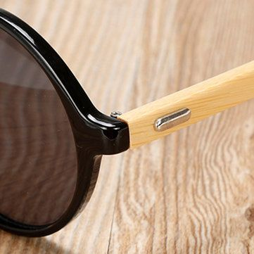 Unisex Vintage Retro Round UV400 Sunglasses Handmade Bamboo Leg Shades Eyewear Glasses at Banggood