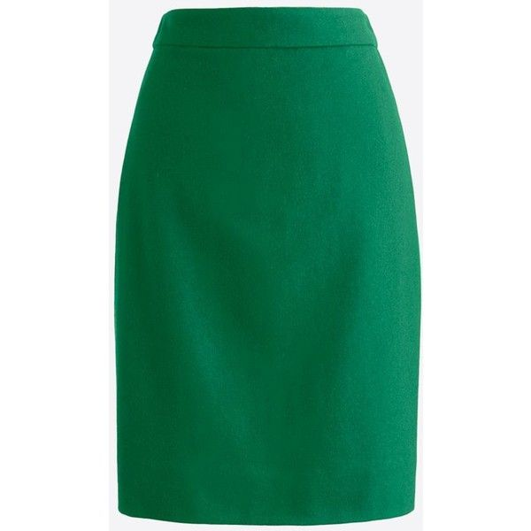 Petite pencil skirt in double-serge wool (185 RON) ❤ liked on Polyvore featuring skirts, long pencil skirt, green pencil skirt, wool pencil skirt, petite skirts and petite long skirts