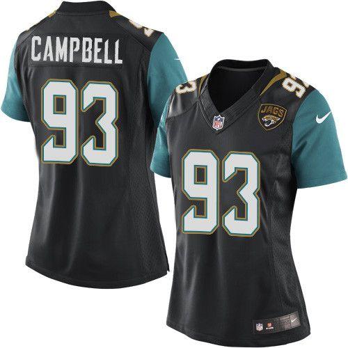 Women's Nike Jacksonville Jaguars #93 Calais Campbell Limited Black Alternate NFL Jersey