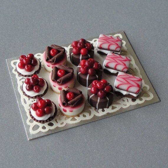 Cherry chocolate cakes