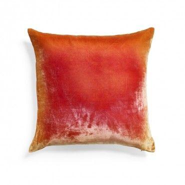 Kevin O'Brien Pink Gold Ombre Velvet Pillow