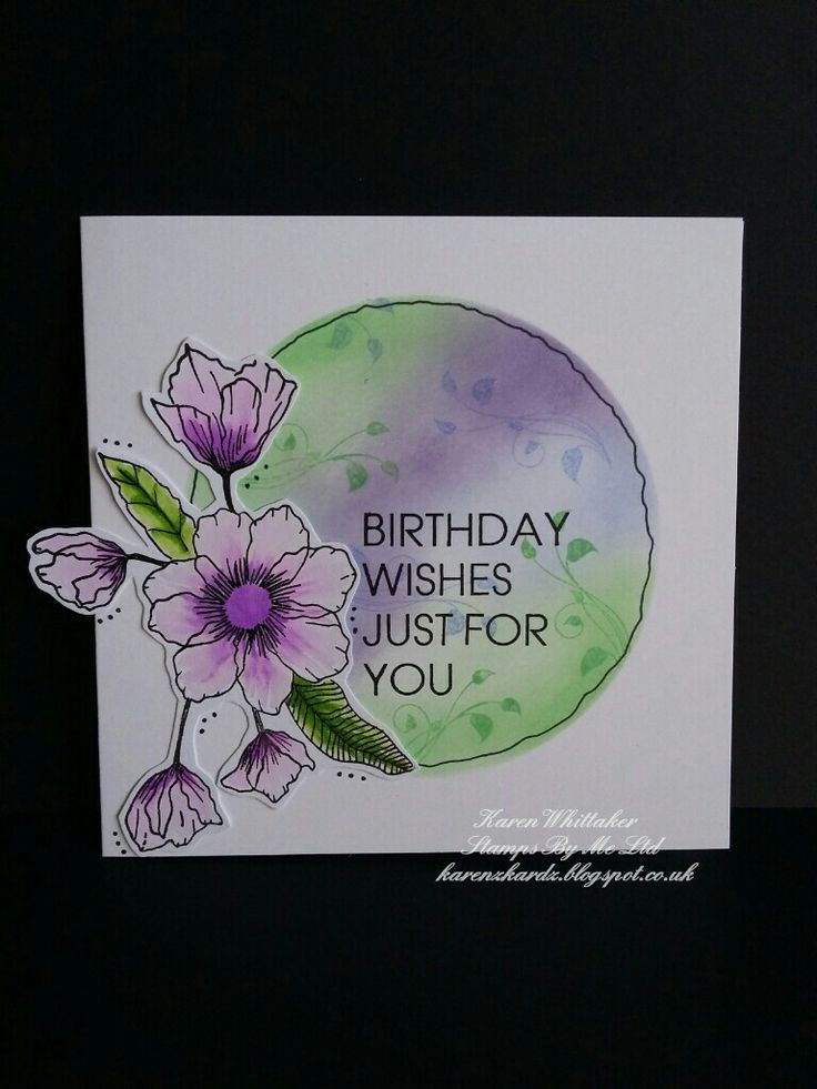 Birthday splendour lamination stamp set by Stamps By Me  #stampsbyme #dtsample #birthdaysplendour #flowers #lamination #kuretake #distressoxides #stamps #stamping #card #creative #craft #ilovetocraft #creativity