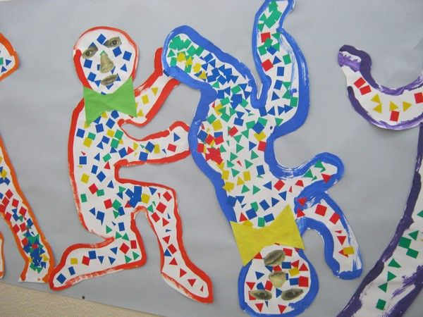 voici le travail que mes élèves de 20 TPS et 7 PS ont fait sur le travail de Fernand Léger. Nous avons légèrement détourné le travail avec un travail sur Keith Haring. Mes élèves ont adoré et le travail d'abstraction sur le corps a vraiment porté ses...