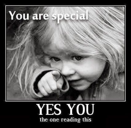 :) I believe Everyone is Unique and Special in their own way! You can find out how special you are in you're own way, just by being yourself and not being someone else! :)
