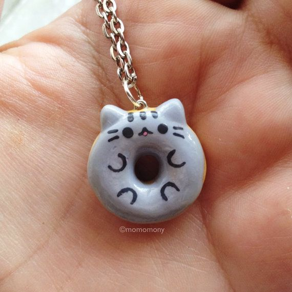 Pusheen The Cat in donut form on a necklace!