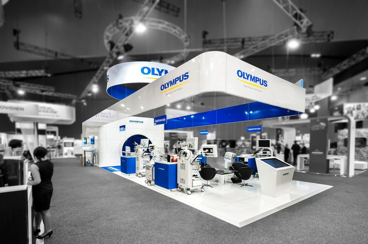 Exhibition Stand Medical : Olympus exhibition stand designed and constructed by