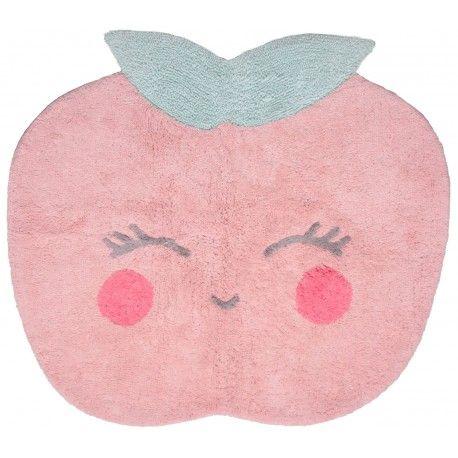 candy apple un tapis lavable en forme de pomme joyeuse pour chambre de fille dans - Tapis De Chambre Fille