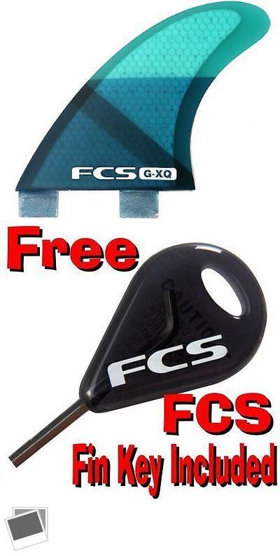 Surfboard Fins 114250: Fcs G-Xq Rear Surfboard 2 Fin Set Performance Core Blue Slice - Brand New -> BUY IT NOW ONLY: $53.98 on eBay!