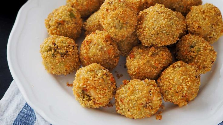 Swap out  breadcrumbs for quinoa  for a gluten-free version of the Italian treat.