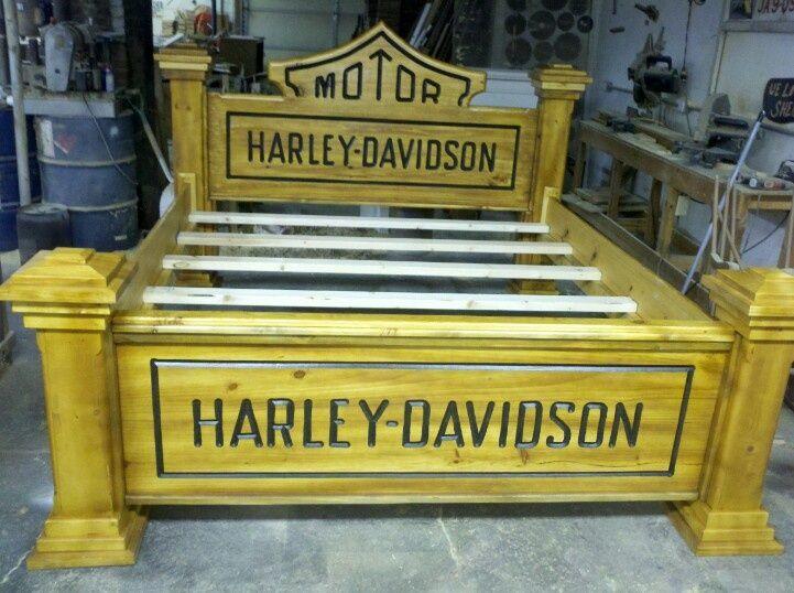 Harley Davidson Headboard Go Look At My Harley Davidson