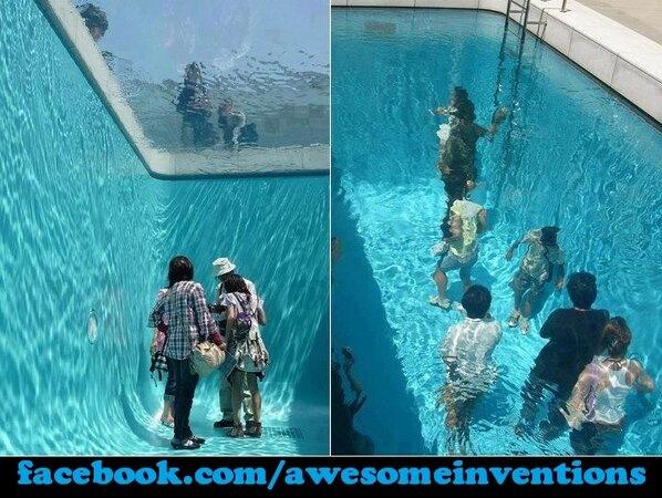 Awesome Pool Illusion In Japan! #ScoreSense