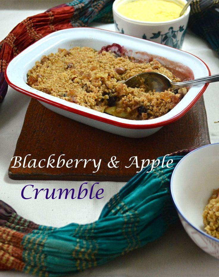 Blackberry and Apple Crumble - a British classic autumn pudding with a ...