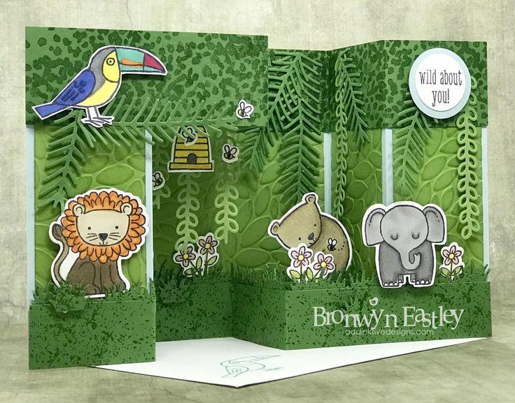 A Little Wild, Bird Banter, Double Pop-Up, Gate Fold, Box Card Tutorial, addinktive designs, Stampin' Up! ®