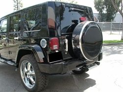 Jeep Wrangler Painted Hard Spare Tire Cover with Stainless Steel Ring