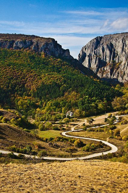The road to Turda Gorge in Transylvania, Romania (by Sergiu Bacioiu).