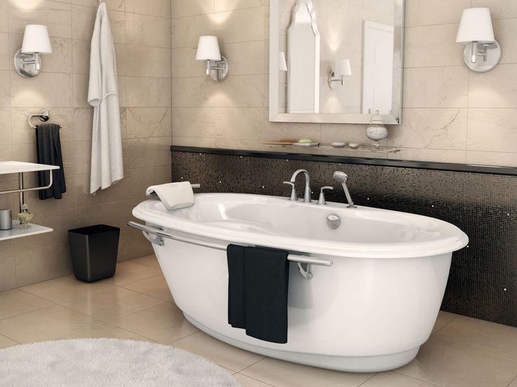 Beauté classique d'autrefois combinée à la technologie d'aujourd'hui.Une des seules baignoires autoportantes munie d'un système de massage à air ou tourbillon.
