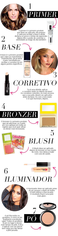 ordem produtos maquiagem