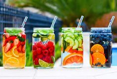 """Detox water is all the rage right now - especially when you can easily make them at home yourself. Why bother buying the cheap """"vitamin waters"""" you see in store? They contain the unknown mystery in... #detox"""