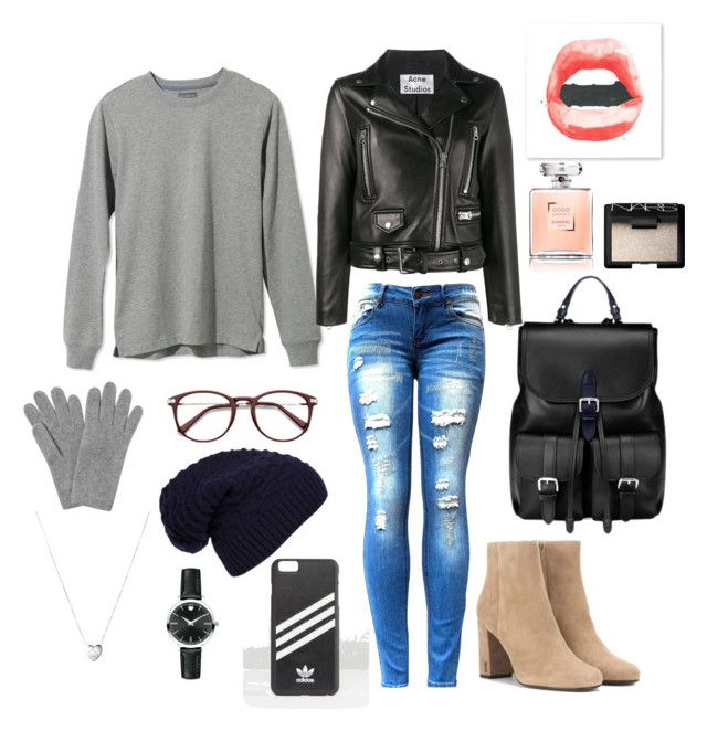 """""""Untitled #2"""" by afsyara-fifa on Polyvore featuring L.L.Bean, Acne Studios, Yves Saint Laurent, Aspinal of London, L.K.Bennett, WithChic, adidas, Links of London, Movado and NARS Cosmetics"""