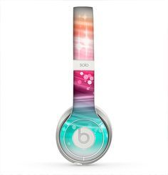 The Vibrant Multicolored Abstract Swirls Skin for the Beats by Dre Solo 2 Headphones from Design Skinz, INC. This seems spectacular? What do you assume?
