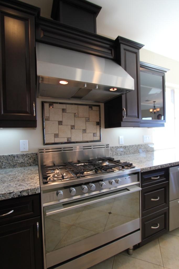 Oven and back splash in a GJ Gardner Homes custom home in Nipomo, CA.