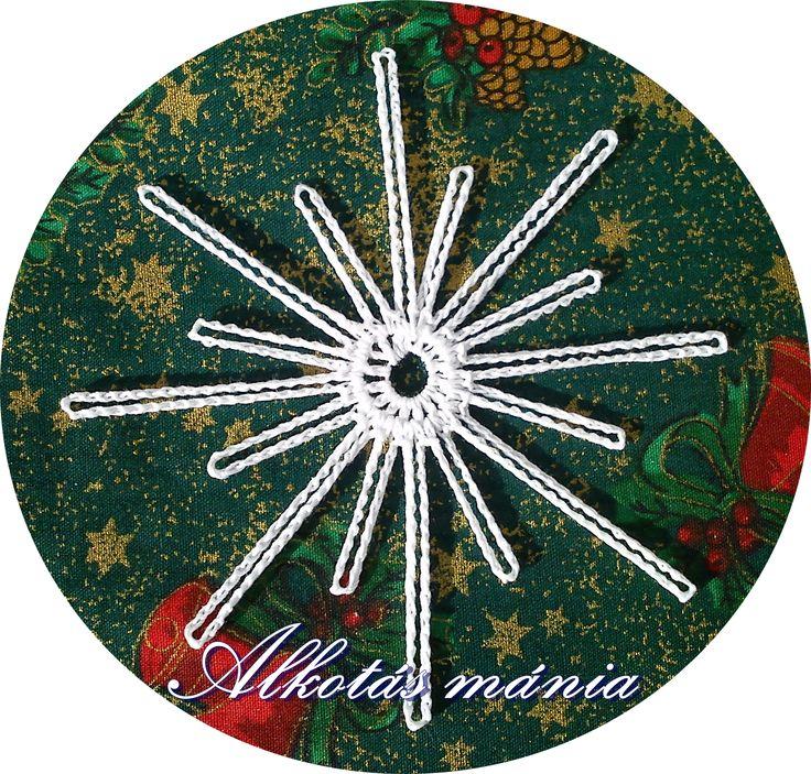Horgolt#csillag#dísz#karácsony#ünnep