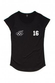 NZ OLYMPIC TEAM GOLDIE WOMENS BLACK SCOOP