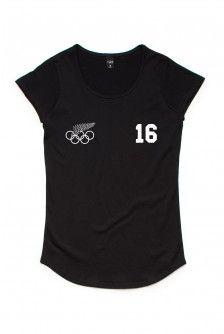 NZ OLYMPIC TEAM GOLDIE WOMENS BLACK SCOOP