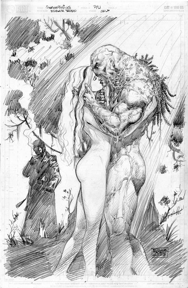Swamp Thing & Abby - pencils//Ed Tadeo/T/ Comic Art Community GALLERY OF COMIC ART