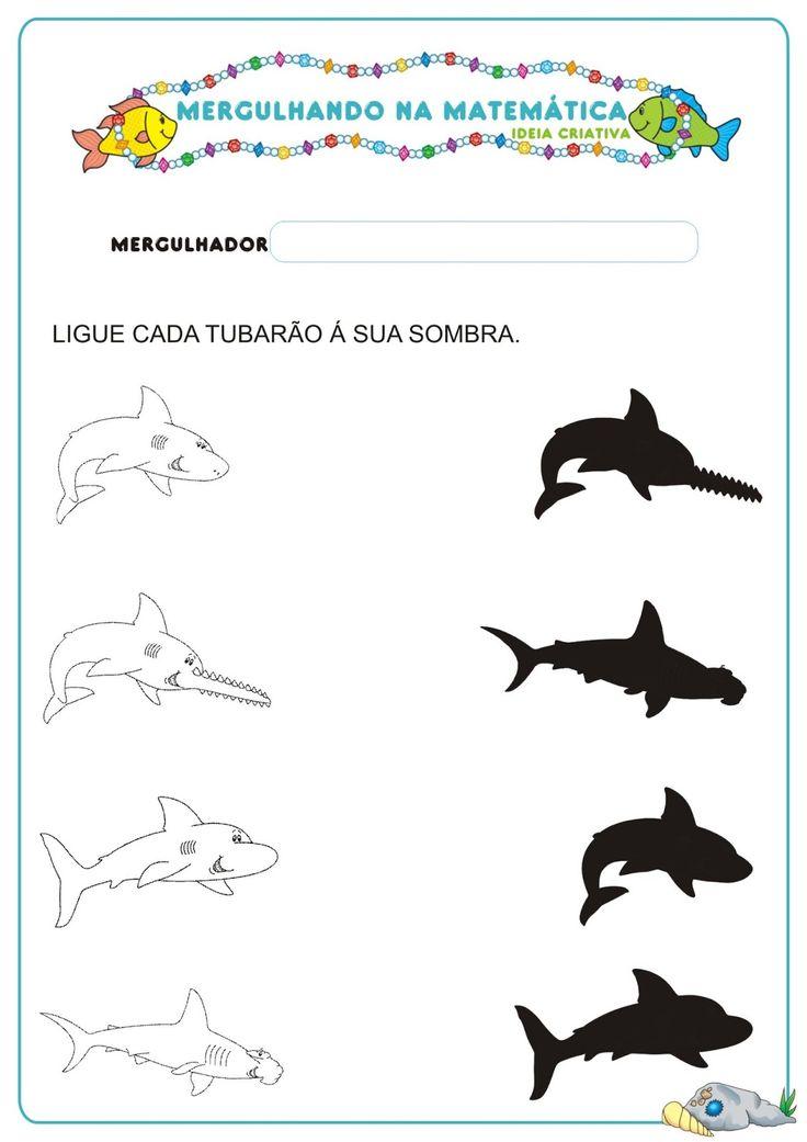 schaduw vissen, free printable