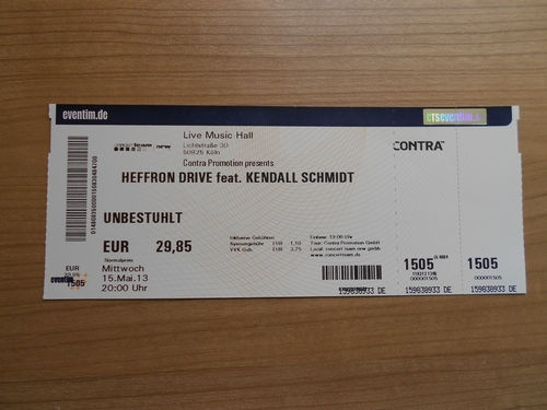 ticket to the show in Germany