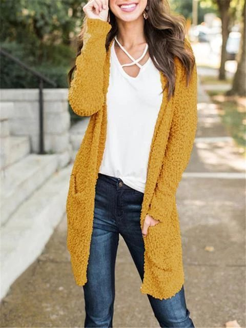 Popcon Knit Sweater Cardigan with Pockets