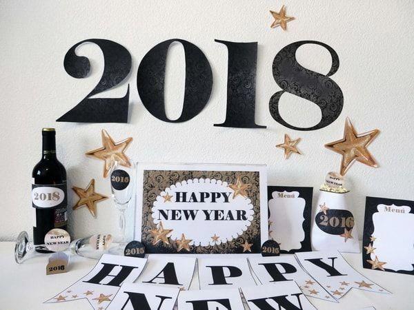 Decoración para la mesa de fin de año. Ideas para decorar en Año Nuevo. #noch…