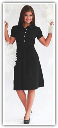 The Olive is a flirty statement dress. The pleated puff sleeves and pointed collar are very complimentary to each other, and to your body.   The a-line skirt starts it's fullness at the thick natural-waist band, allowing any problem areas to be concealed. The large buttons are bold, fun, and set your dress apart from those around you.   Stand out, and enjoy yourself while wearing the Olive