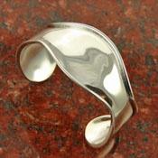 Chunky simple silver jewlery  #