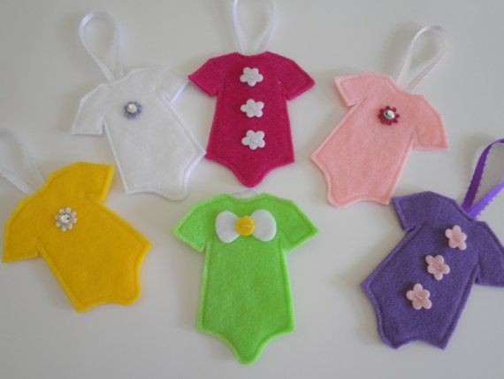 Handmade Felt Christmas Onsie Ornaments In 6 Adorable Girl Colors Choose Any 2 For One Low Price